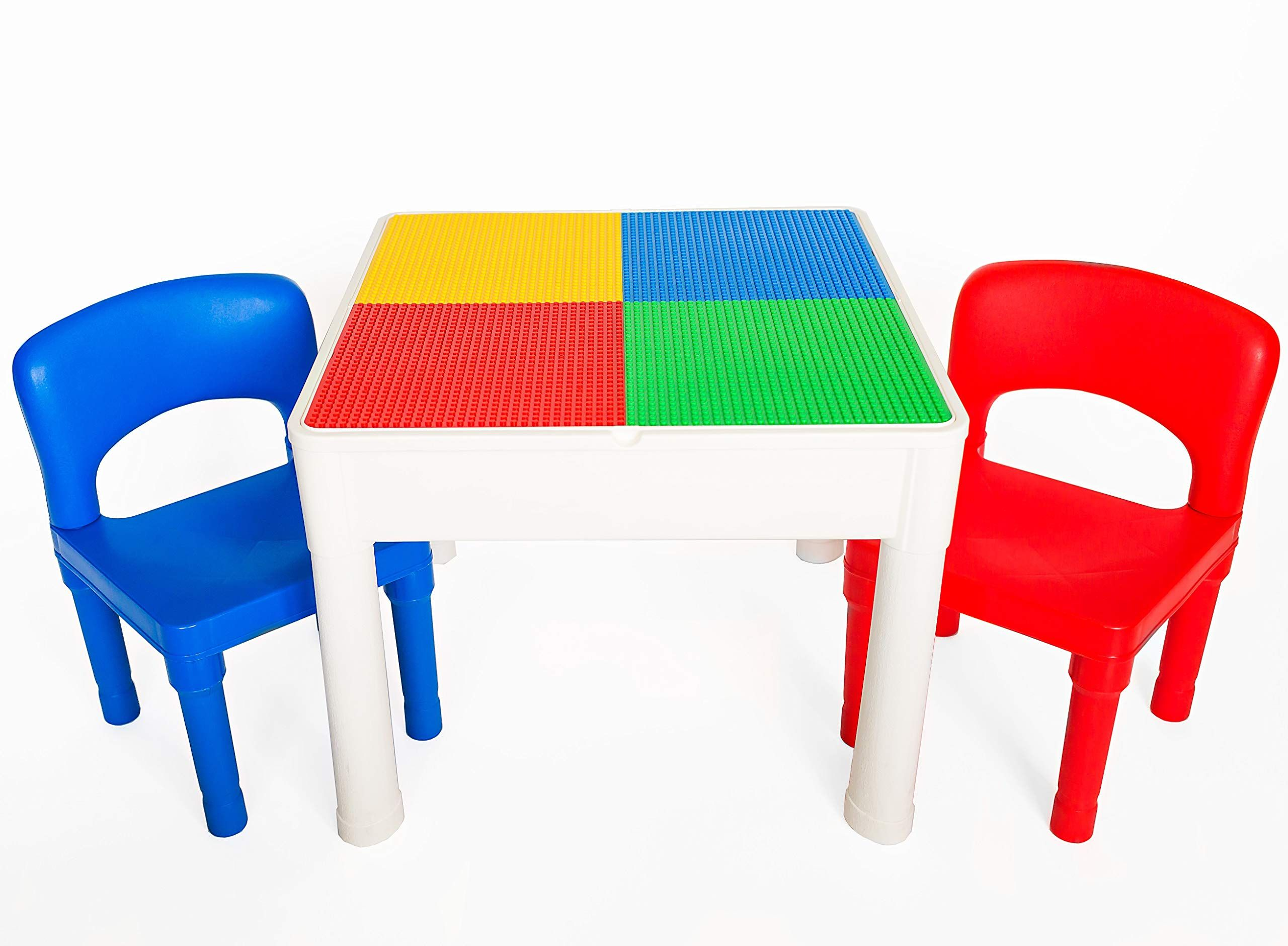 Fine Lego Table Kids 4 In 1 Play And Build Table Set For Indoor Download Free Architecture Designs Sospemadebymaigaardcom