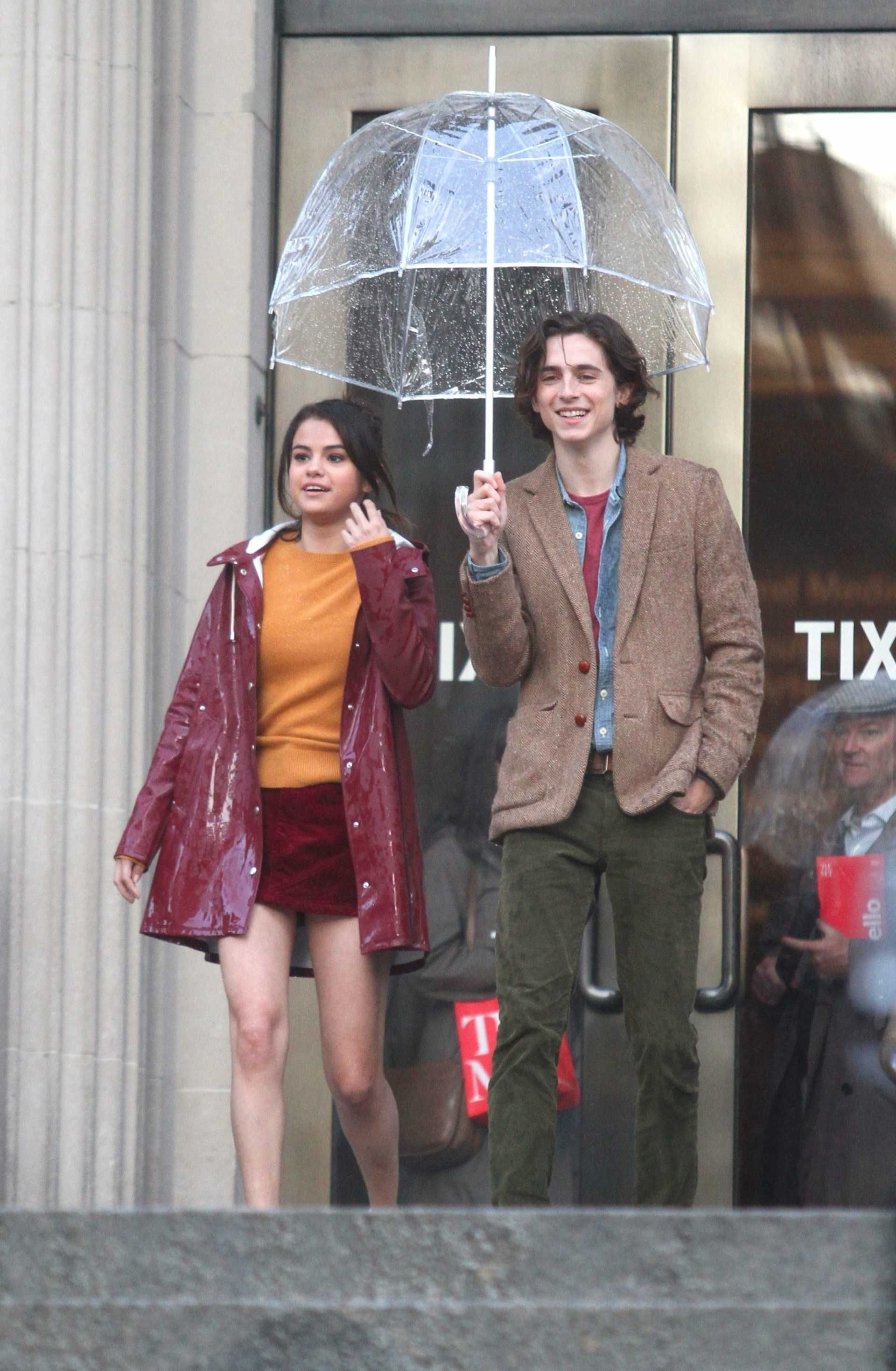 Selena Gomez on the Set of a Woody Allen Movie in NYC