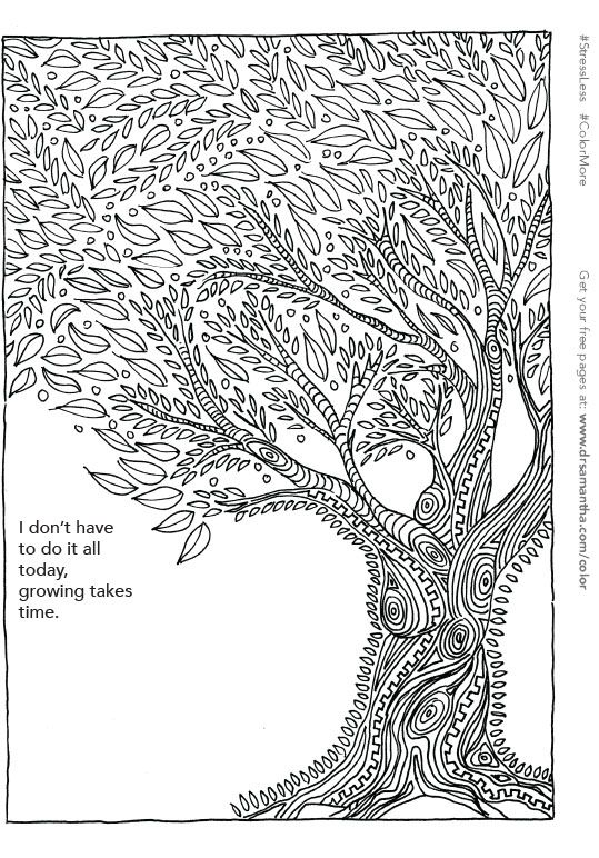 Free Printable Coloring Page For Stress Relief