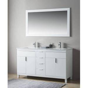 Photo of emotion Set stile rustico 2pz. Elba 150 legno bianco laccato marmo Carrara premontato
