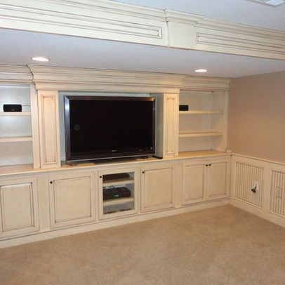 Entertainment Center Using Base Cabinets Builtin Entertainment - Built in cabinets entertainment center design pictures remodel