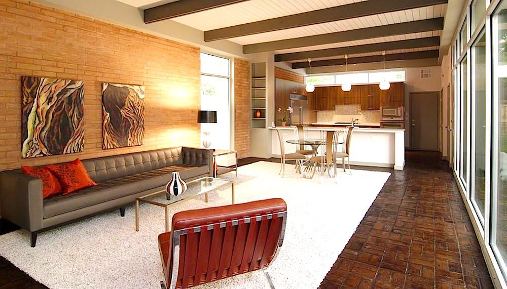tips for apartment decorating based on your favorite design movement mid century modern design. Black Bedroom Furniture Sets. Home Design Ideas