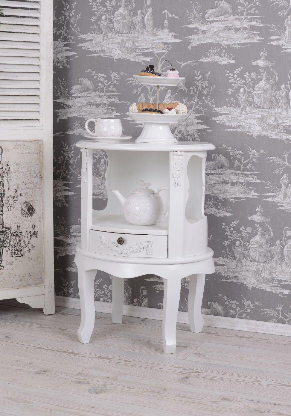 nachttisch shabby chic nierenschrank rokoko nachtschrank. Black Bedroom Furniture Sets. Home Design Ideas