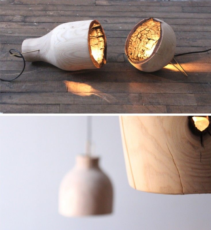 Shade stuff group burned light remodelista light pinterest an organic wood pendant lamp with a charred interior reminiscent of japanese shou sugi ban timber a prototype designed by karen hare and ja aloadofball Images