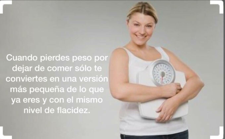 No es dejar de comer es comer saludable y hacer alguna actividad física