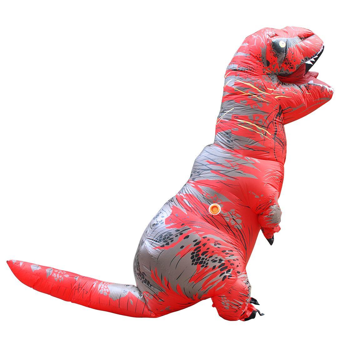 Disfraces Adultos Red T-REX Inflatable Dinosaur Costume Halloween ...