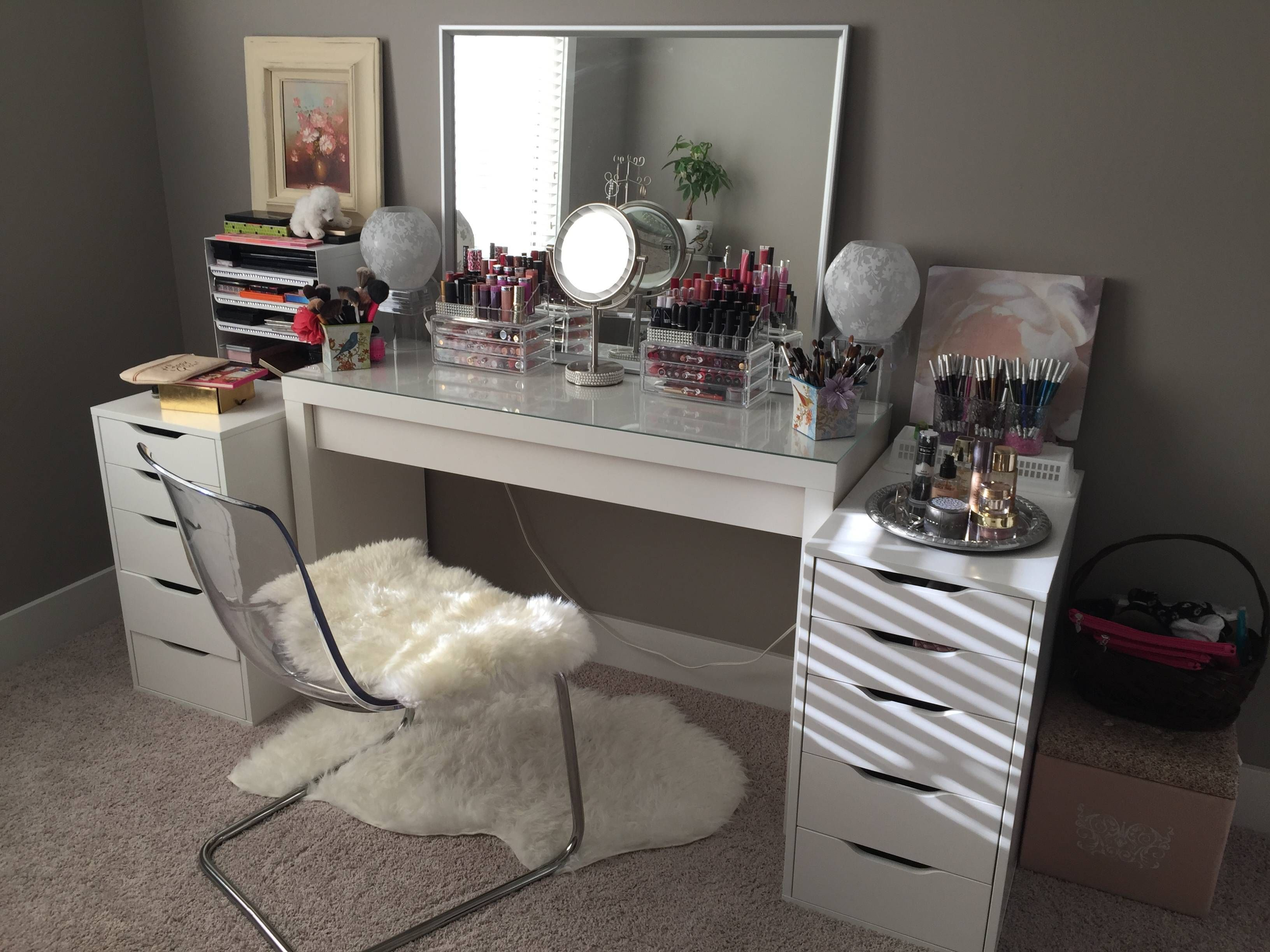 My (nearly) completed Ikea beauty room setup! in 2020