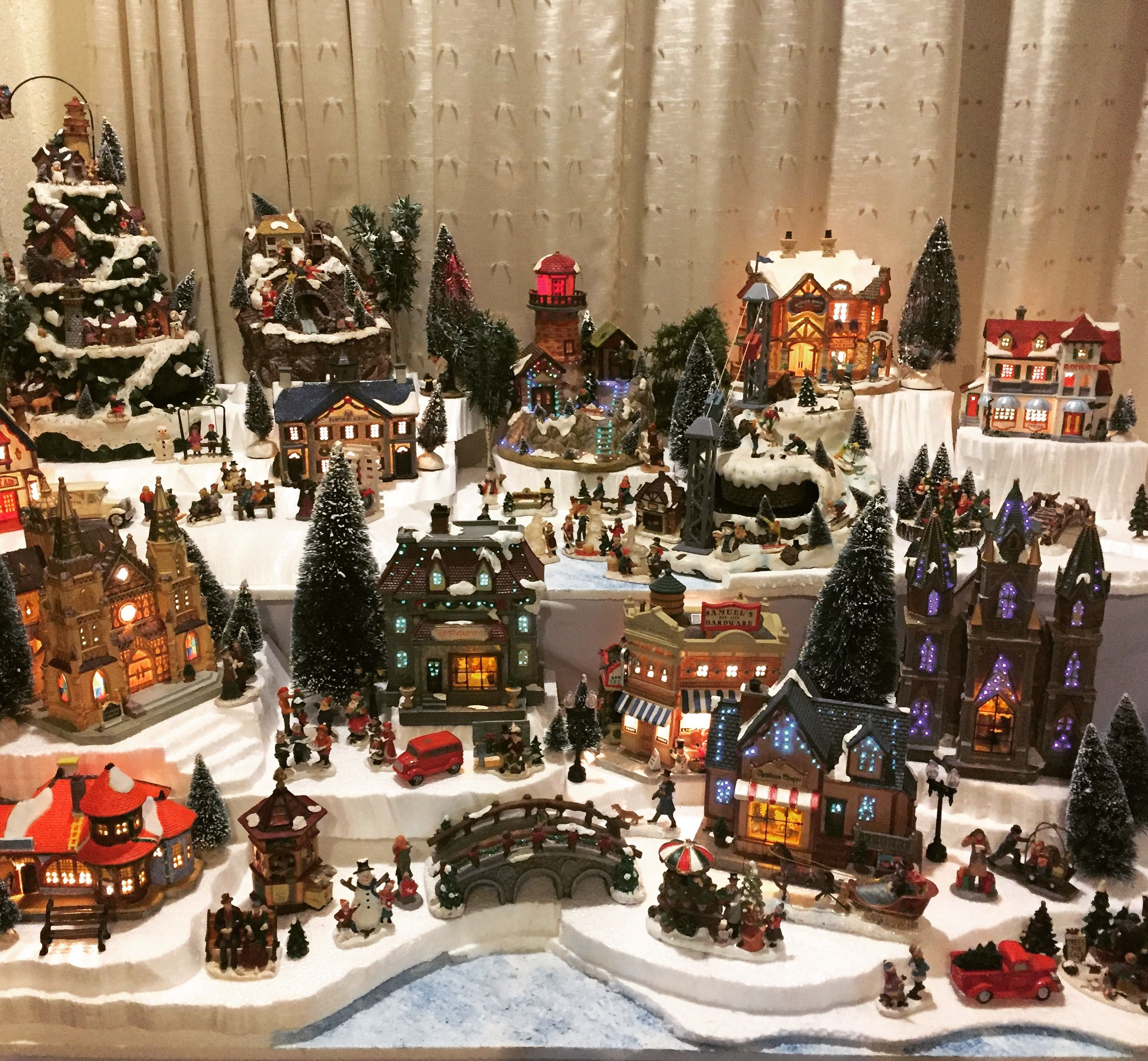 Christmas Village Sets.2016 Christmas Village Display Just About Done Enjoyed