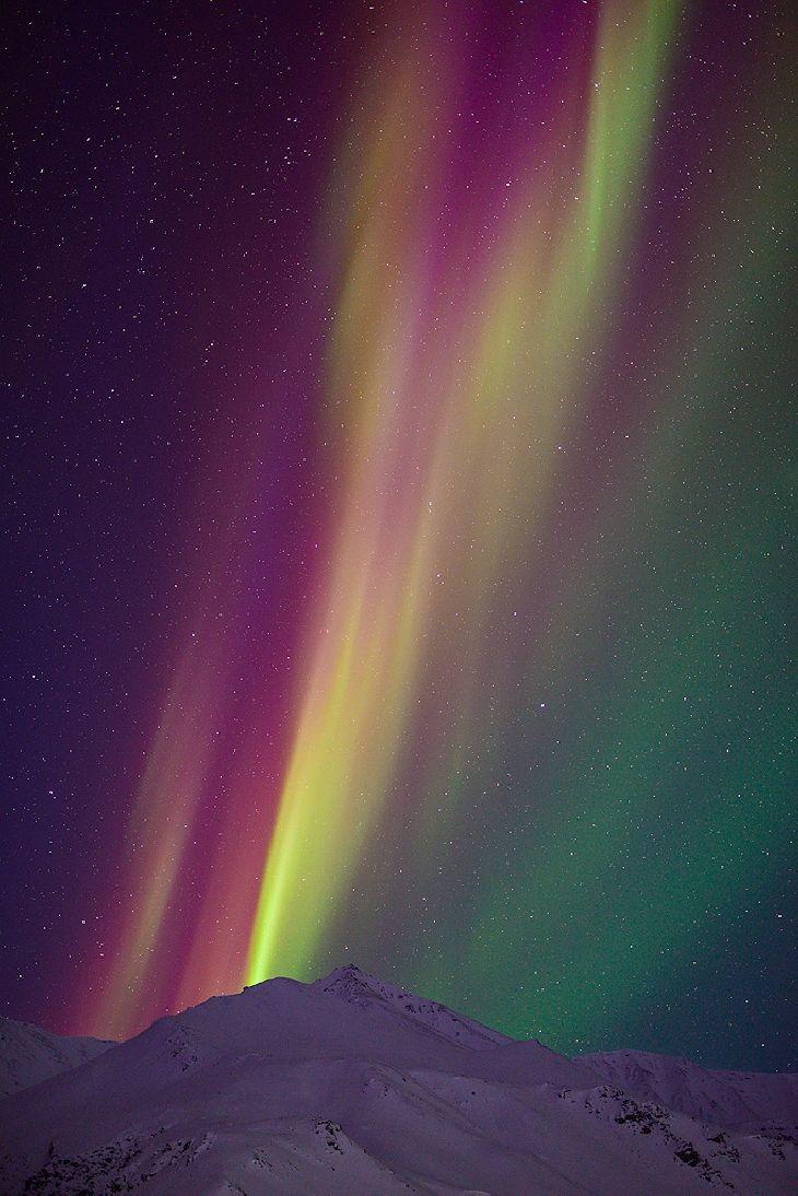 Aurora - Brooks Range in northern Alaska