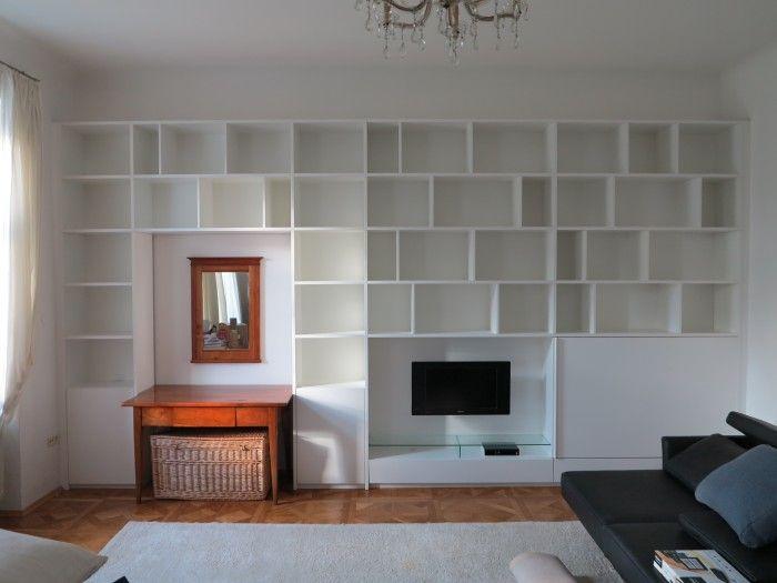 Bucherwand Integrierter Tv Und Schreibtisch Wohnen