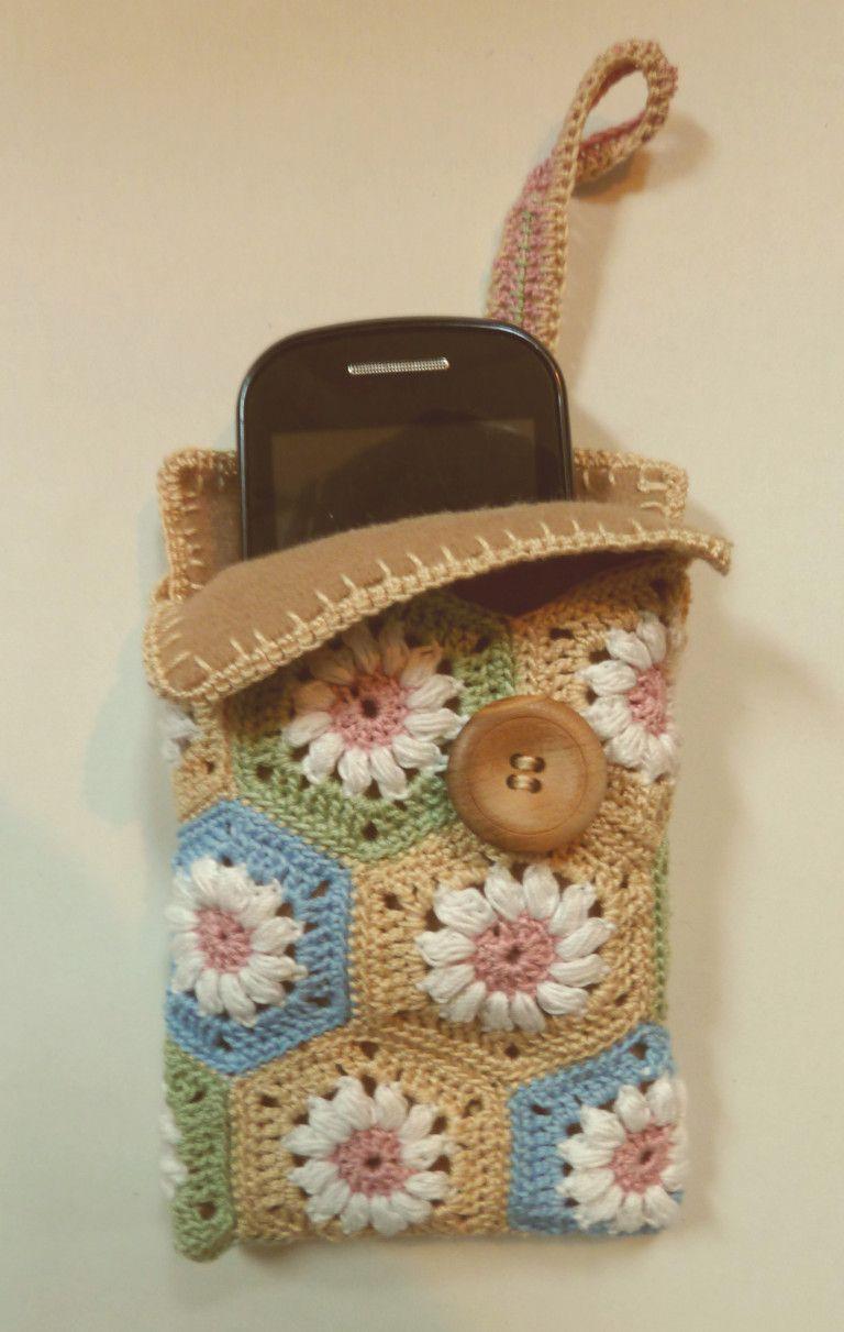 Gehäkelte Handytasche Crochet Pencil Case Pinterest Häkeln