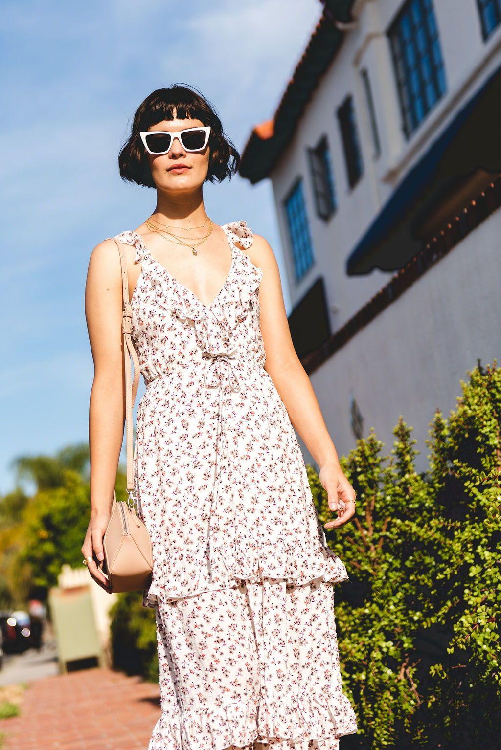 4289b0dd43 blue life valerie maxi dress, ruffle maxi dress, cherry blossom floral  print dress,