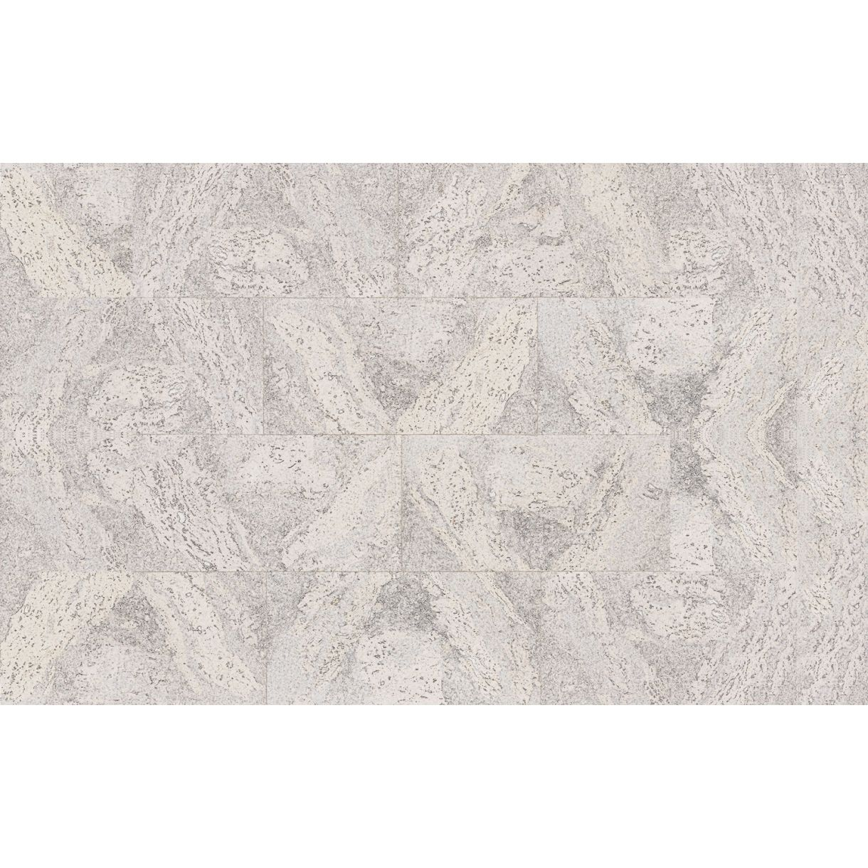 Decorative cork wall tiles FLORES WHITE 3x300x600mm - package 1,98 ...