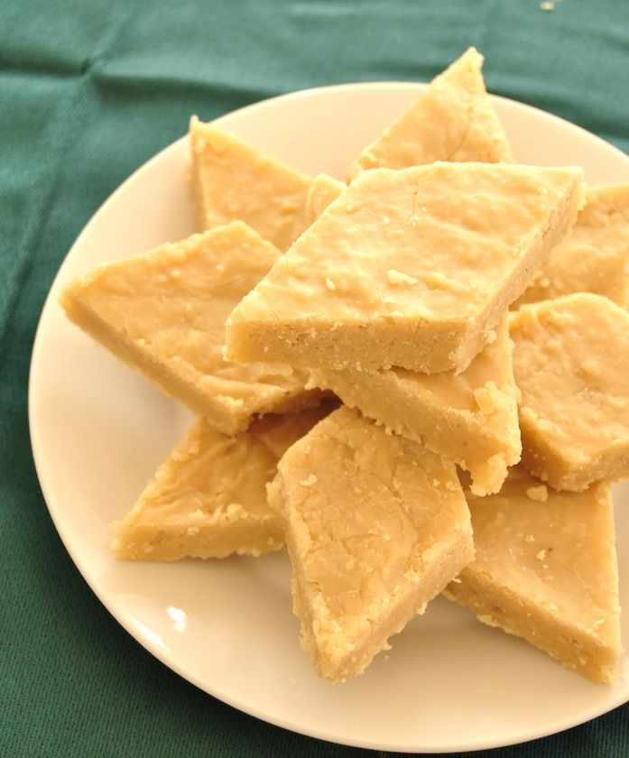 An Indian Fudge Made With Chickpea Flour Coconut And Milk