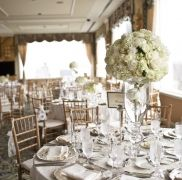 All White Wedding - Gorgeous Centerpiece - Fairmont Wedding - Wedding Coordinated at the SF Fairmont by Tosca Productions