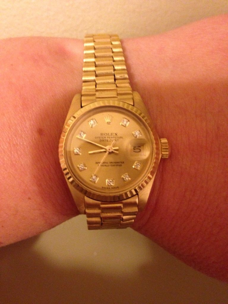 Ladies solid 18k Gold ROLEX presidential in Calgary