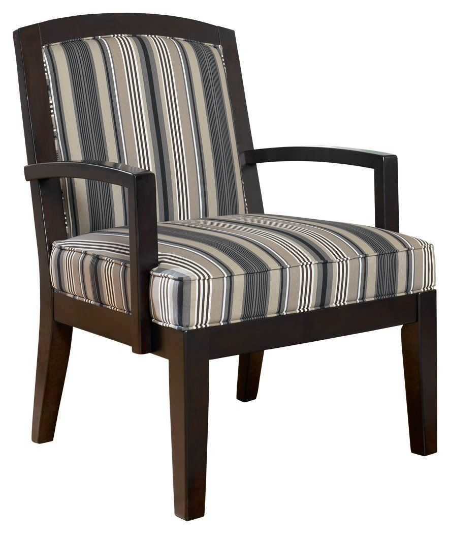 Ashley furniture signature design yvette showood accent chair upholstered contemporary living black