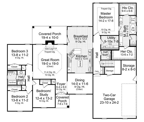 Open ranch style floor plans ranch home plans ranch for Southfork ranch house plans