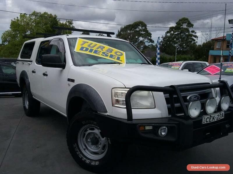 2007 ford ranger pj xl 4x4 white manual 5sp m super cab chassis ford ranger forsale. Black Bedroom Furniture Sets. Home Design Ideas