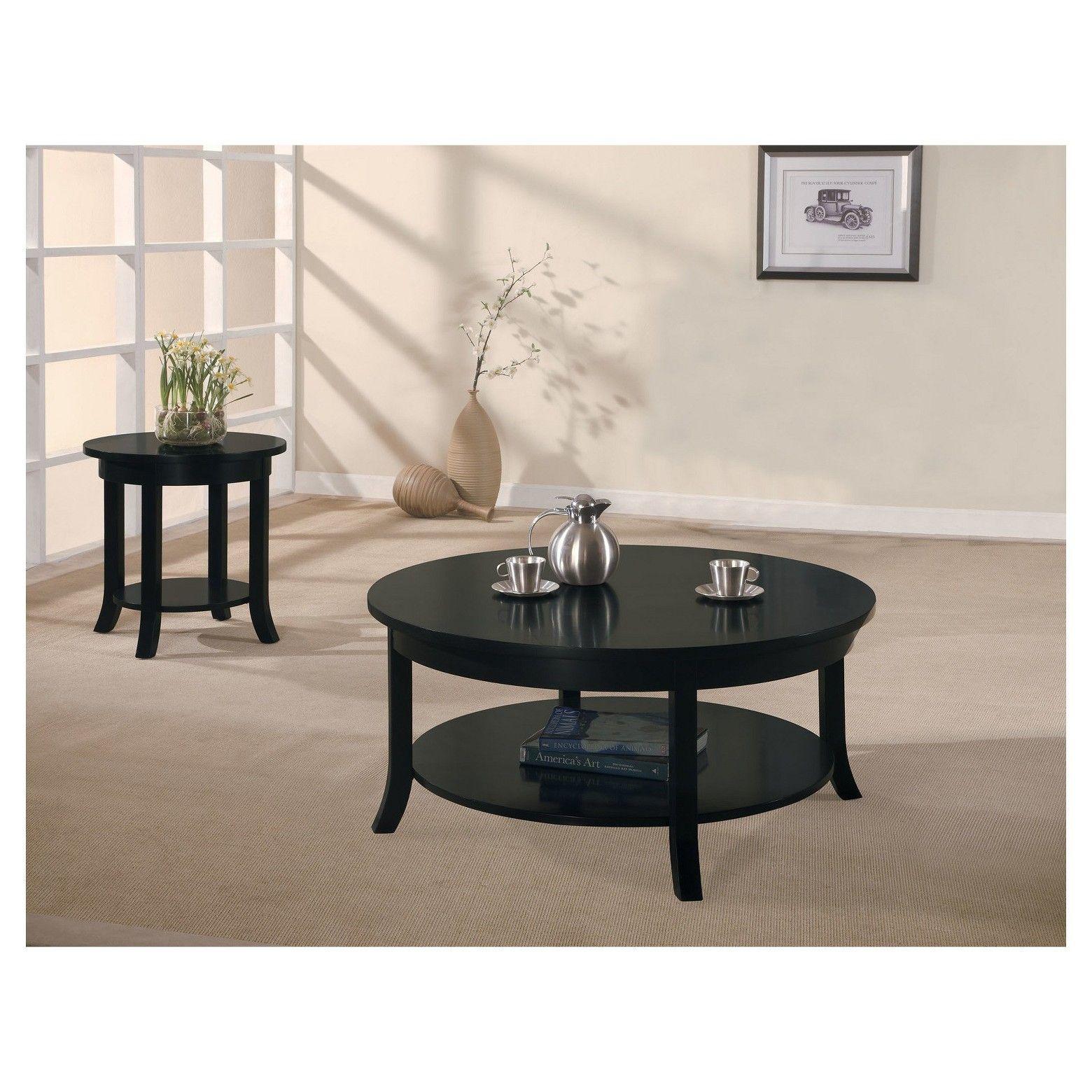 Gardena Coffee Table Black Acme
