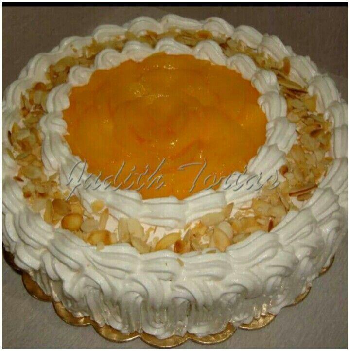 Torta Fria De Melocotones Crema Pastelera Y Chantilly Cake Tutorial Desserts Food
