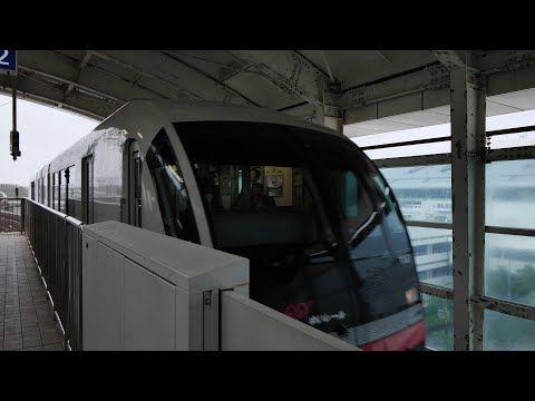 沖縄都市モノレール線ゆいレール (1000形運行)  超広角車窓 進行右側 那覇空港~てだこ浦西【4K60P】