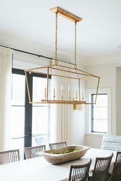 neutral transitional design dining room - Linear Dining Room Light Fixtures