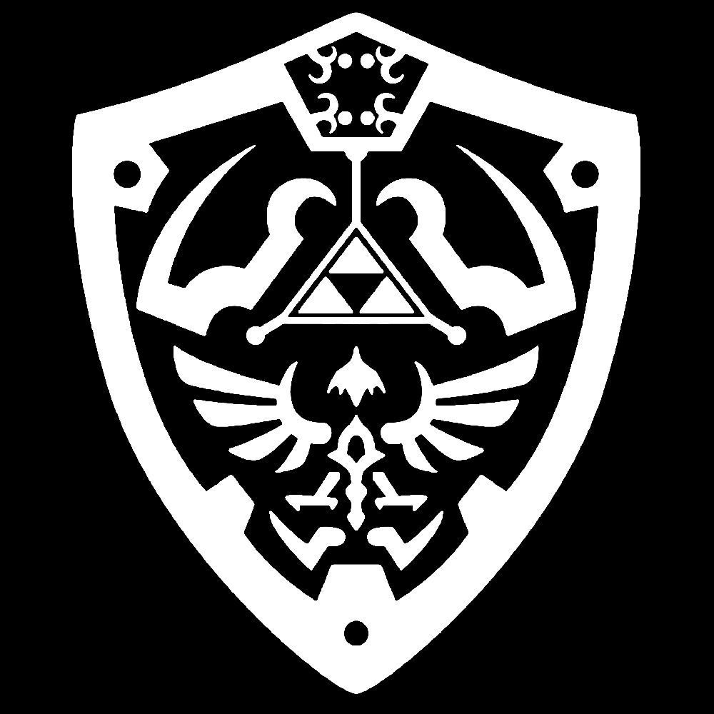 Zelda Master Shield Vinyl Sticker Decal triforce nintendo