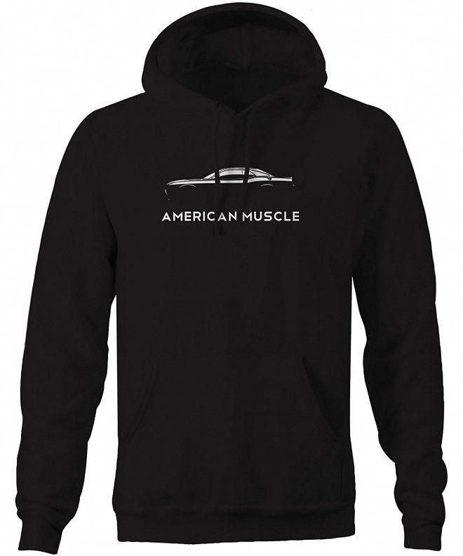 American Muscle Dodge Mopar Charger Challenger Car Hellcat Sweatshirt - Black - CX128DFG49L,Men's Cl...