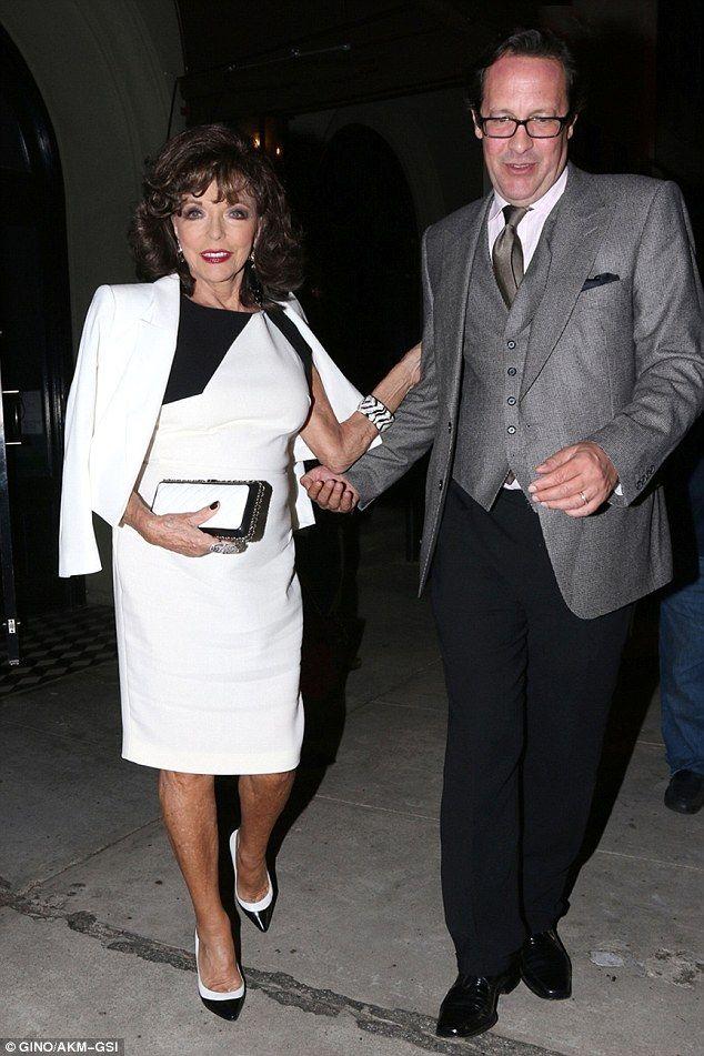Joan Collins couple