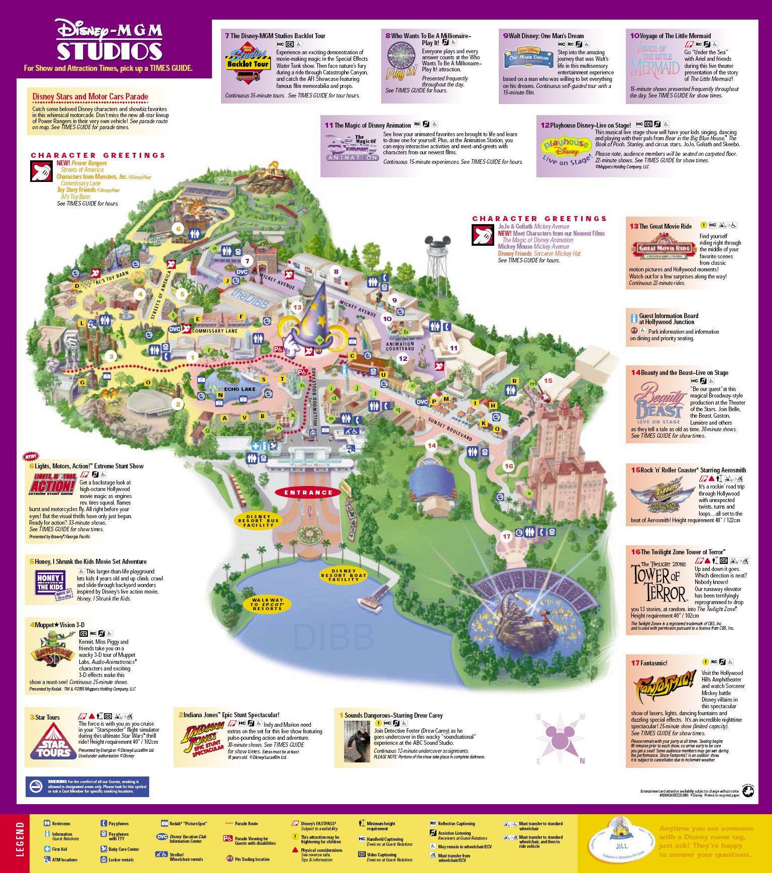 Hollywood Studios map Disney Disneyworld in 2018