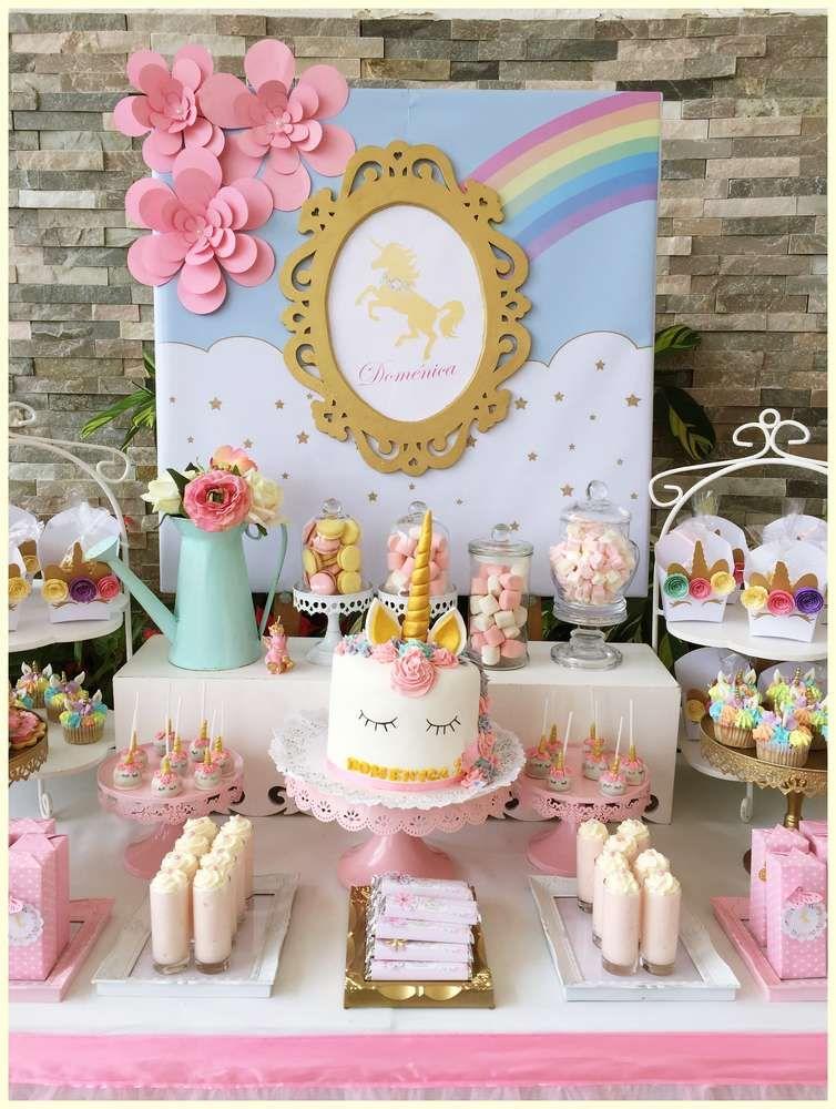Unicorns Birthday Party Ideas Celebraci 243 N Pinterest