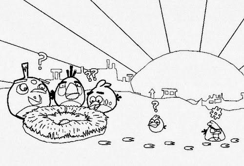 desenho colorir angry birds | Angry birds | Pinterest | Angry birds