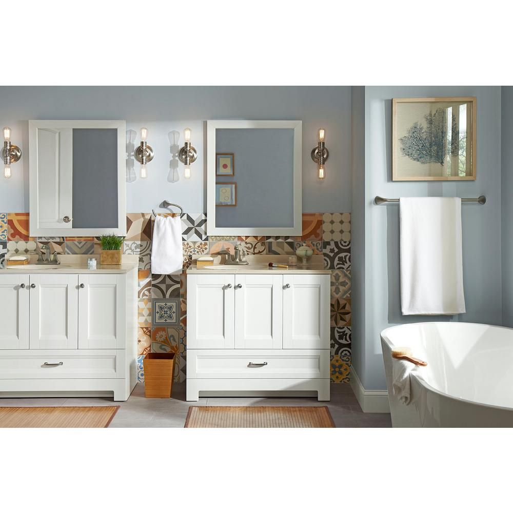 Glacier Bay Ivy Hill 36 In Vanity In White with Colorpoint Vanity