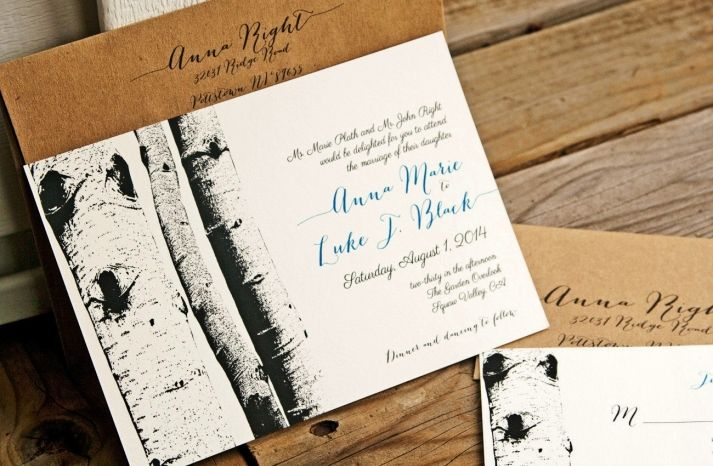 Outdoor-inspired wedding invites