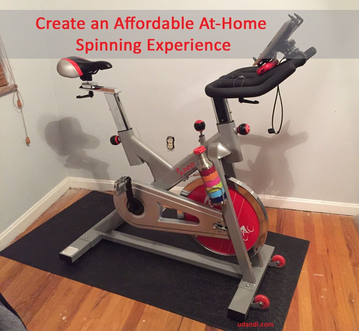 Create An Affordable Studio Spinning Experience At Home Indoorcylcing Spinning Athomefitness Wo Spin Bike Workouts Indoor Bike Workouts Indoor Cycling Bike
