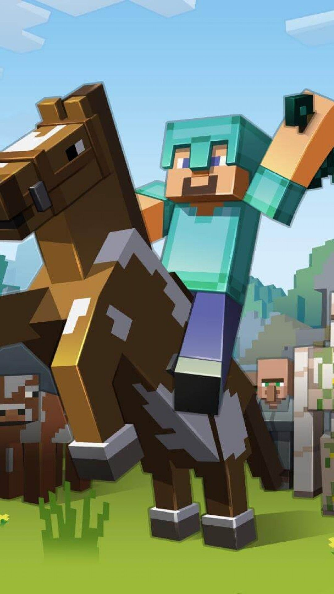 Minecraft (Görüntüler ile) Minecraft, Duvar kağıtları, Duvar