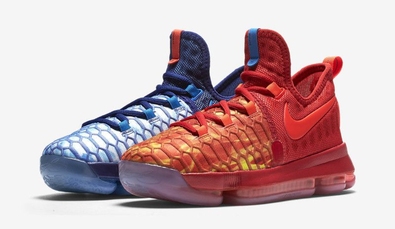 52a2ced298ab Mismatching For The Nike KD 9 Fire   Ice