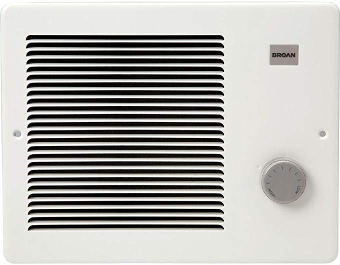 Broan Wall Heater, White Grille Heater with BuiltIn