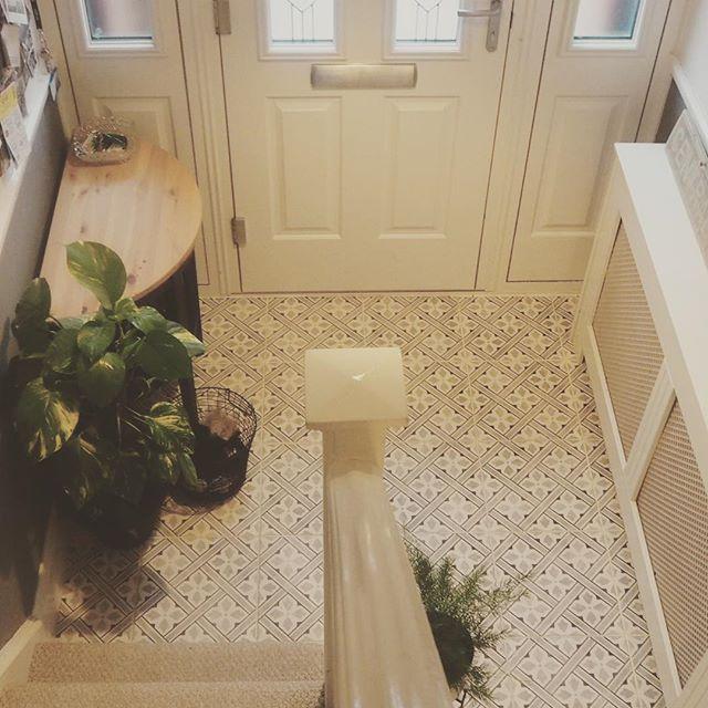 Laura Ashley Mr Jones Charcoal Wall Floor Tiles 33x33cm Hall Flooring Hallway Decorating Tiled Hallway