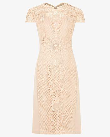 f7dc2aec4fa Phase Eight Macela Lace Dress Pink