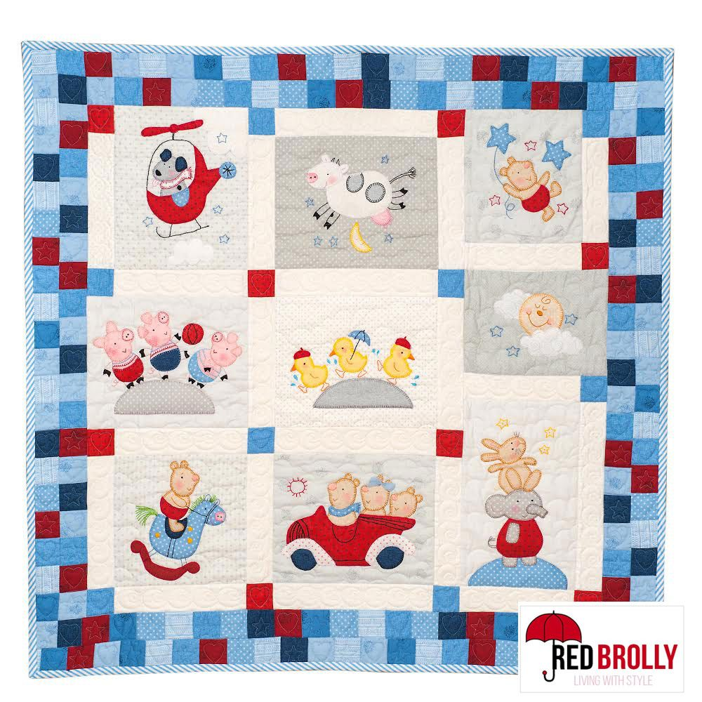 Red Brolly S New Quot Nursery Quilt Quot With Border Available In