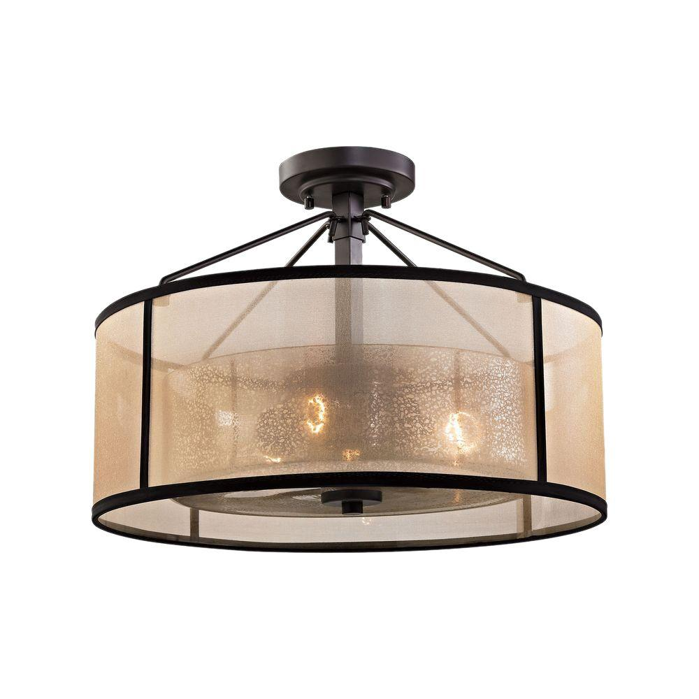 Titan Lighting Diffusion 3 Light Oil Rubbed Bronze Led Semi Flush Mount Semi Flush Mount Lighting Elk Lighting Semi Flush Lighting