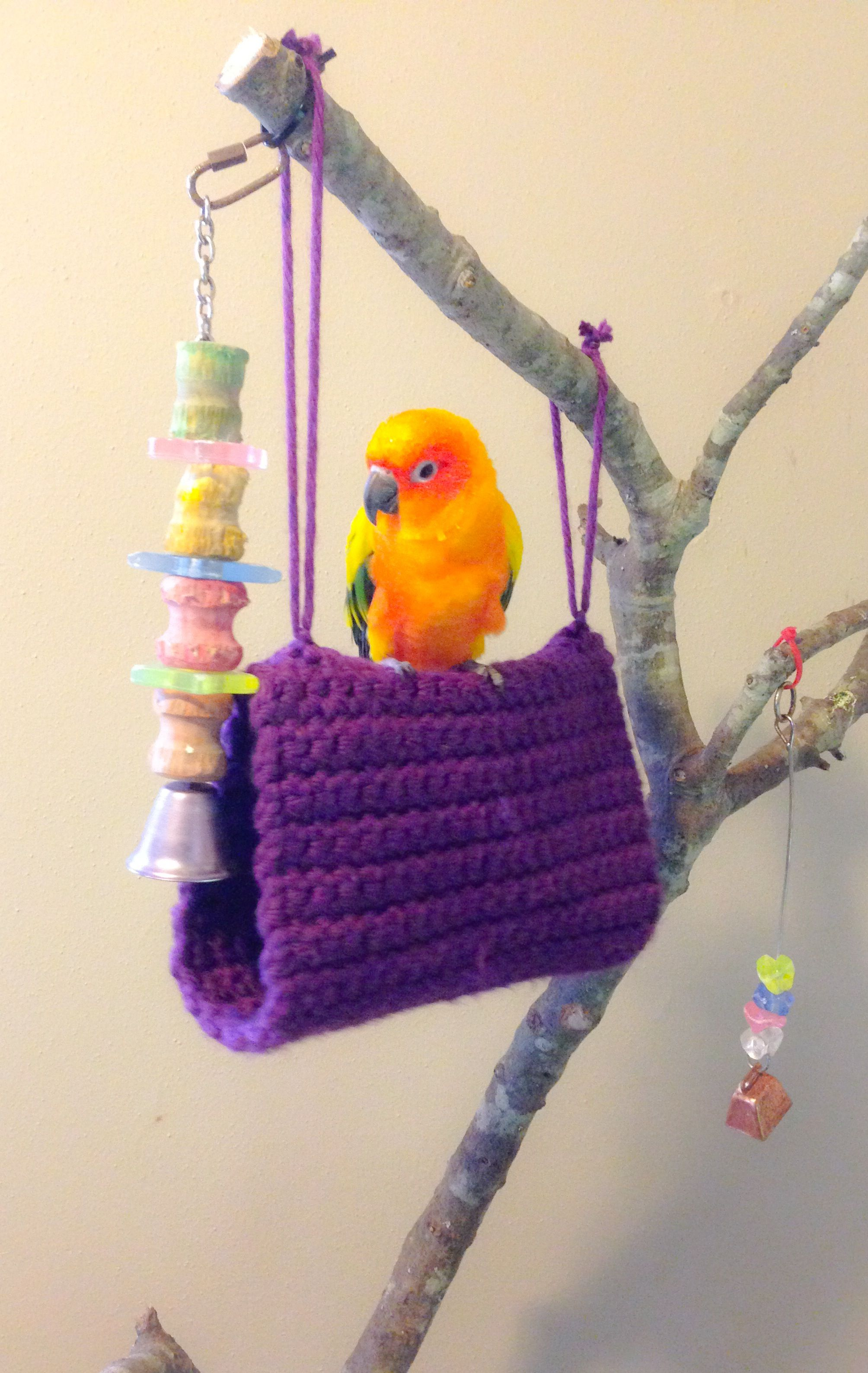 Crochet Bird Bed Bird Hammock Sun Conure Homemade Bird