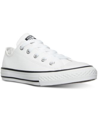 7fbf22ab1116 The retro-cool look of the Converse Chuck Taylor All Star Ox gets a sleek  makeover on this leather version. Young guys with style can sport a hip