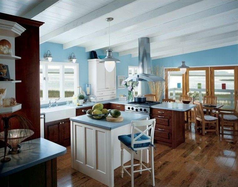 Cocinas pintadas con los colores de moda - 50 ideas | Color de moda ...