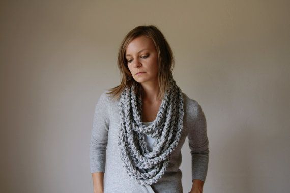 I don't know how functional this scarf is, but it's stinkin' cute! $30. via etsy seller Ozetta.