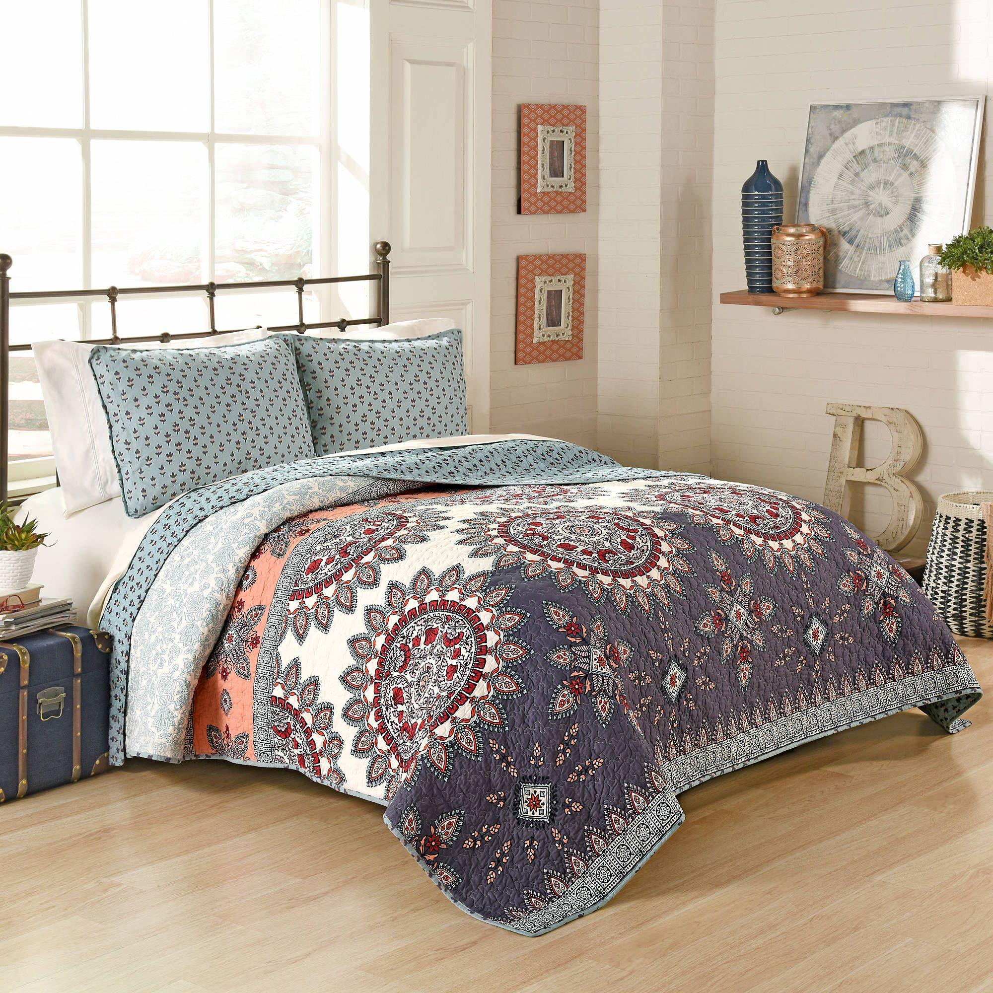 Better Homes and Gardens Moroccan Quilt, Jewel - Walmart.com ... : home and garden quilts - Adamdwight.com