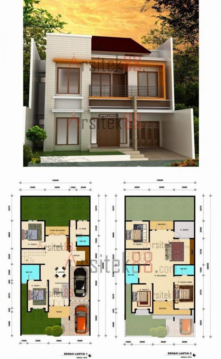 Desain Rumah 2 Lantai Dengan Mushola Cek Bahan Bangunan
