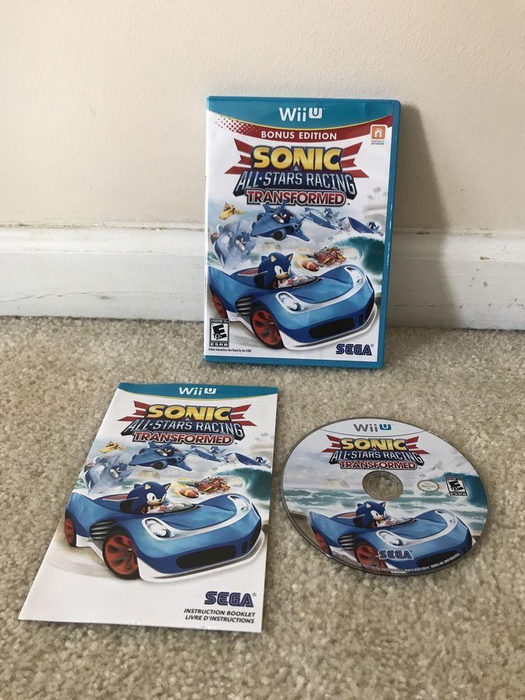 Wii U Sonic All Stars Racing Transformed Bonus Edition Complete Sega Wii U All Star Sonic
